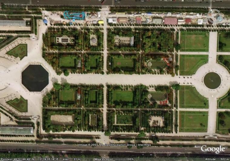 Jardin Des Tuileries Google Earth Fan