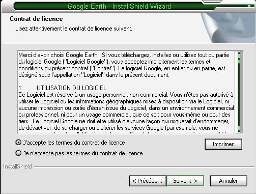 installation google earth